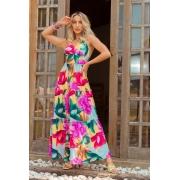 Vestido Mia Midi Primavera Frente Única Silk flow