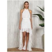 Vestido Mullet Twist Valentina Branco