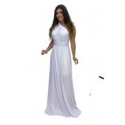 Vestido Multiformas Longo Festa Amarração Branco