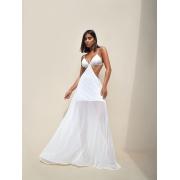 Vestido Premium Elysee  Frente Única Branco Longo    PRÉ VENDA   POUCAS PEÇAS
