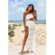 Vestido Renda Hot Pants Branco Especial