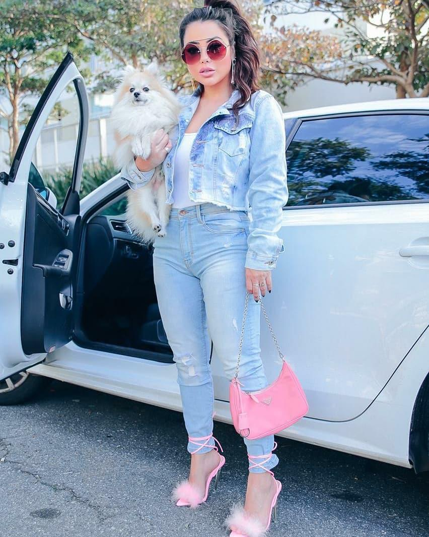 Jaqueta Cropped  Jeans Chanel Inspired