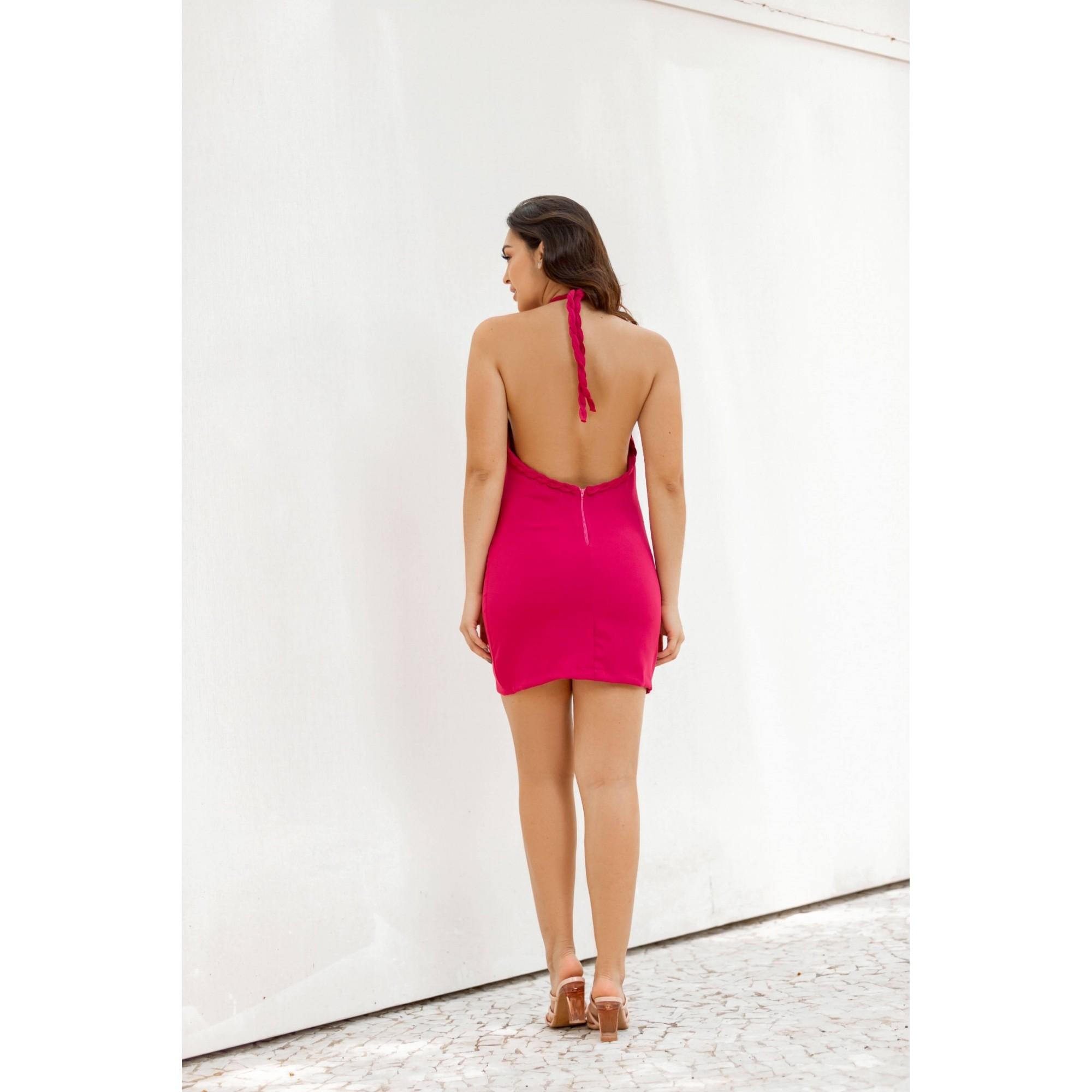 Vestido Alessandra Frente Única Alfaiataria Pink