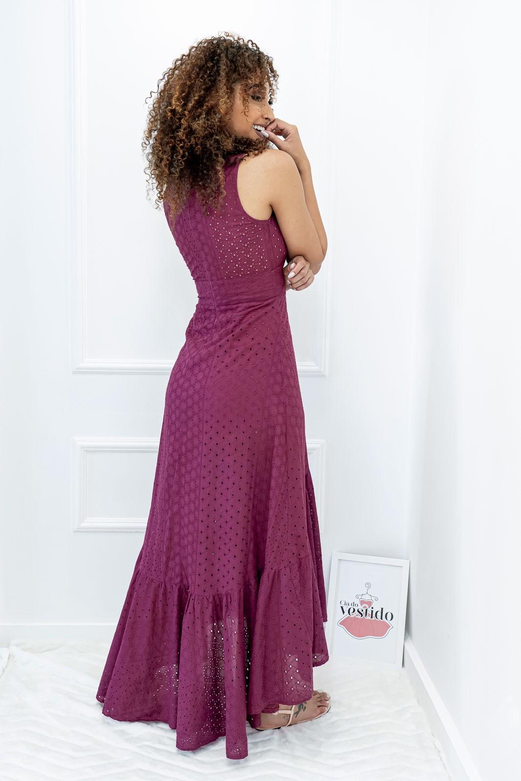 Vestido Audrey Laise Roxo