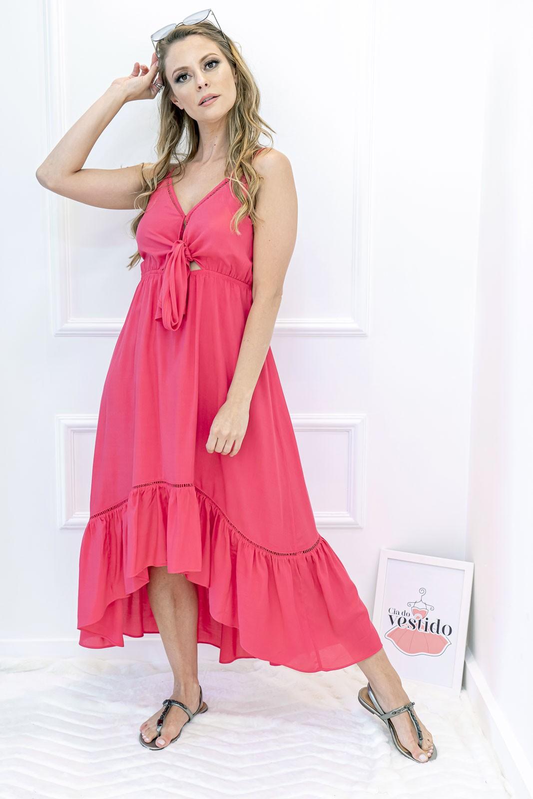 Vestido Fluído Mullet Rosa