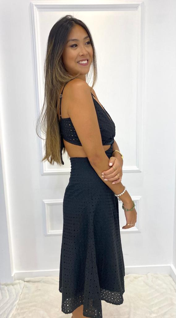 Vestido Laise Preto Frente única