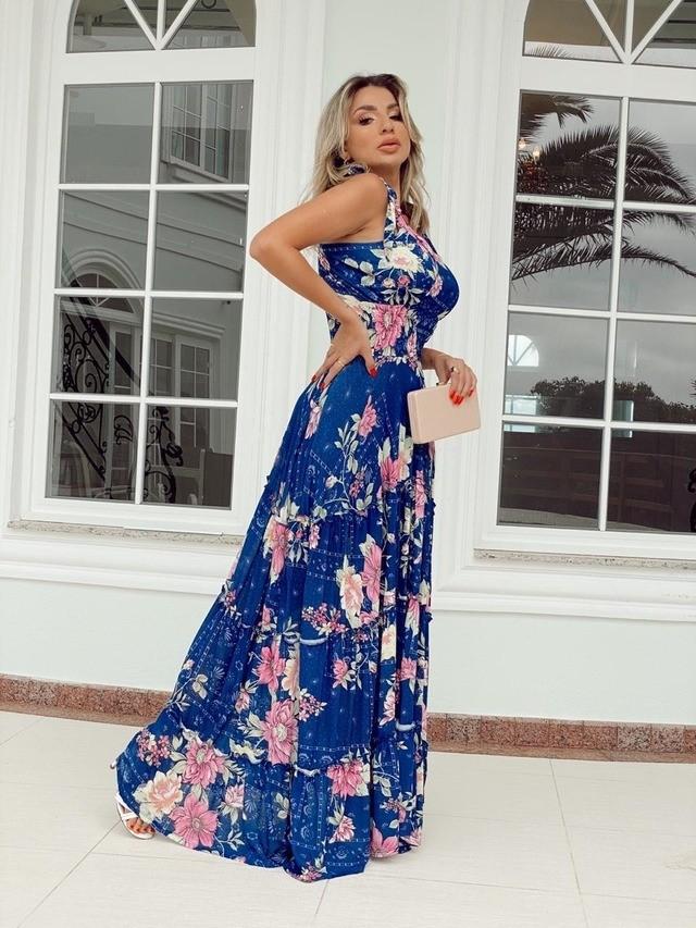 Vestido Longo Alexia Floral Viscolycra