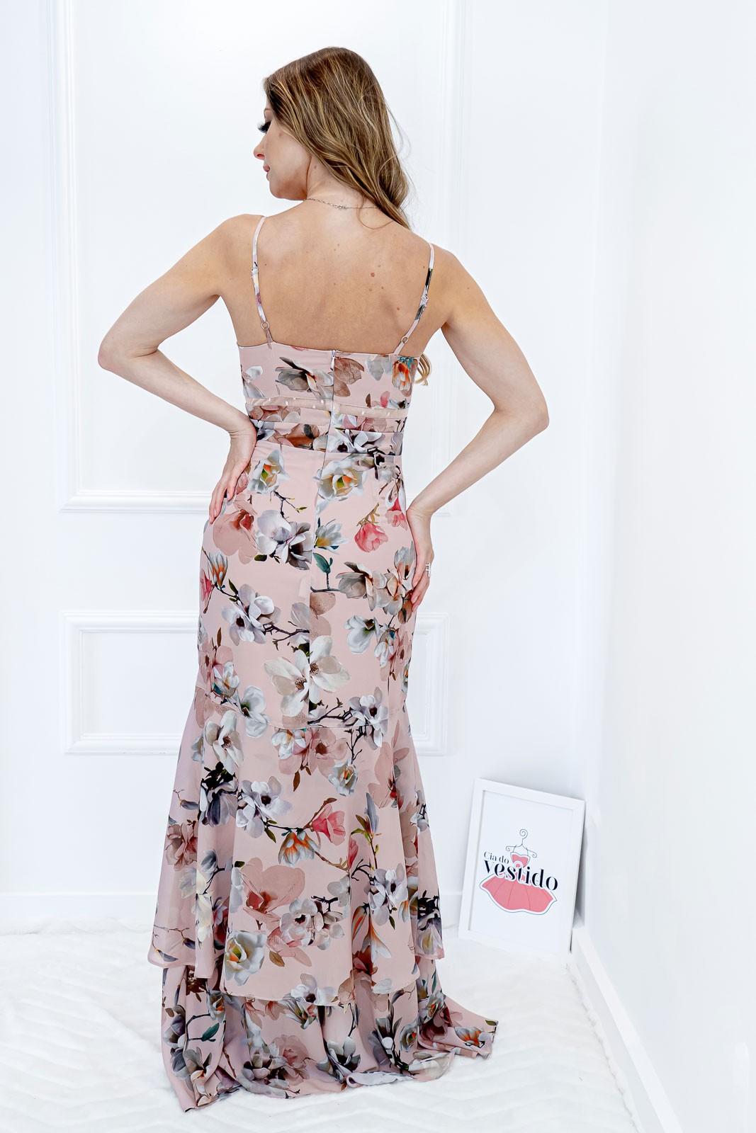 Vestido Longo Floral com Bojo