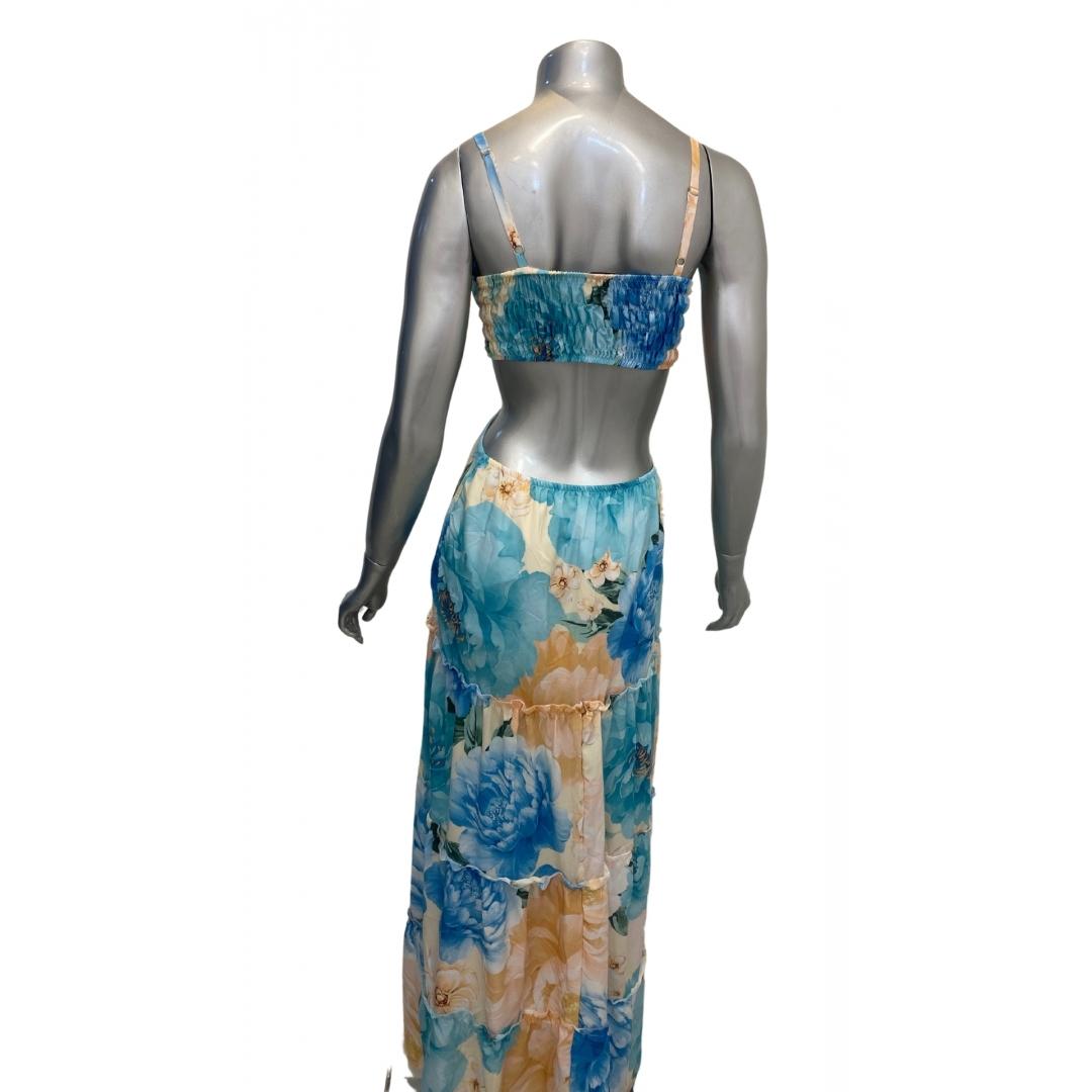 Vestido Longo Floral Letícia Silk flow