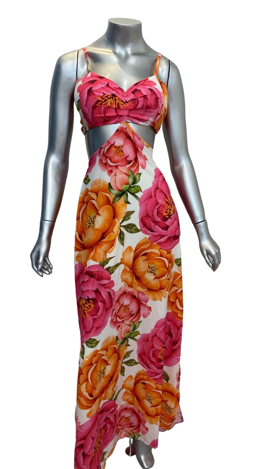 Vestido Longo Floral Naver Silk flow