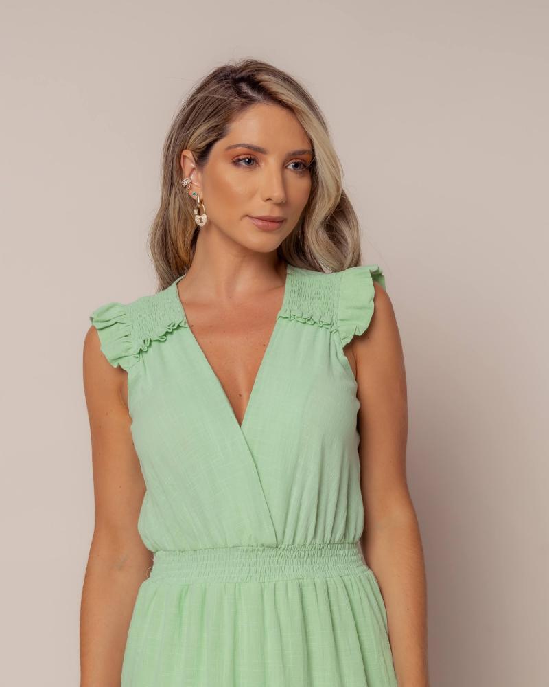 Vestido Longo Lastex Lima Candy Color