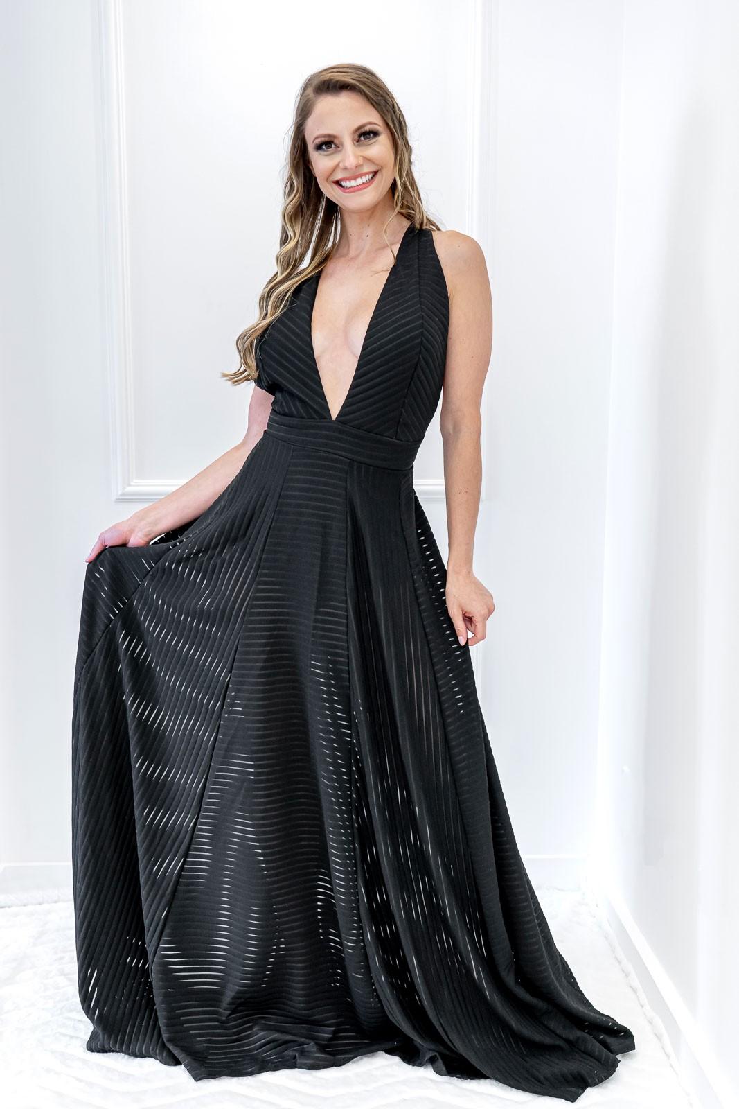 Vestido Longo Sandra Preto