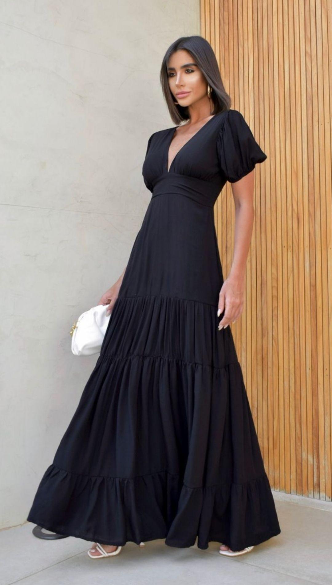 Vestido Longo Wed Princesa Decote V