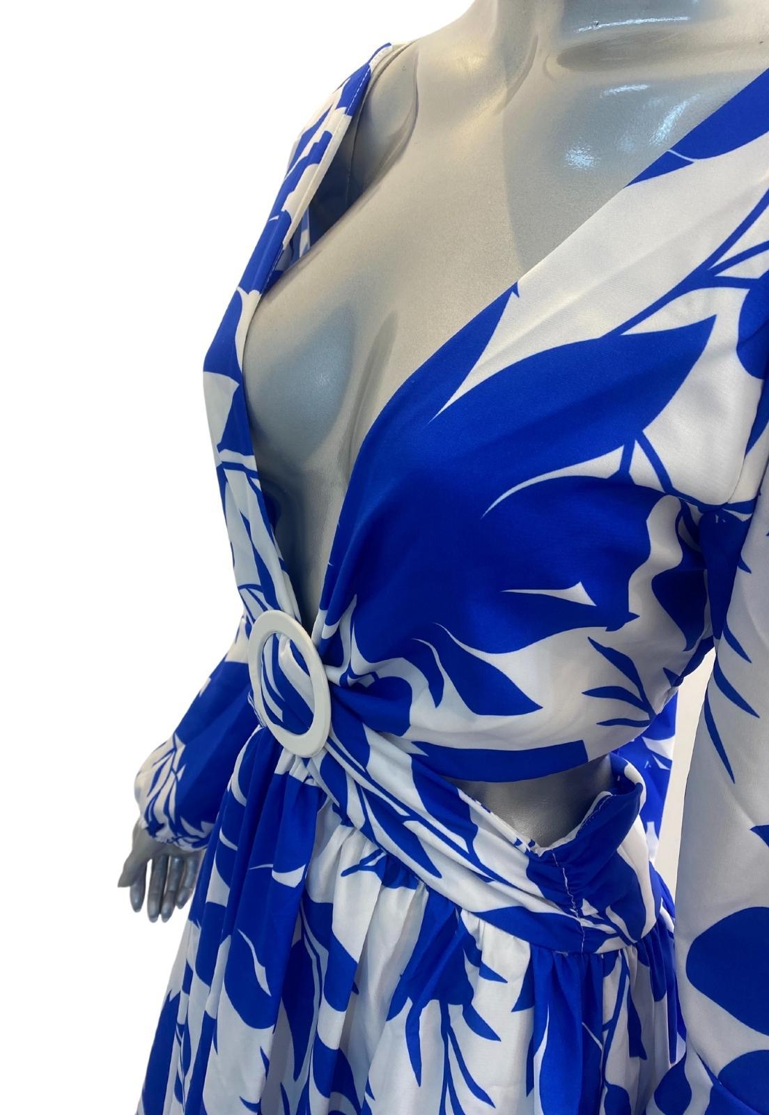 Vestido Thay Longo Floral Crepe Abertura