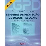 Comentários à Lei Geral de Proteção de Dados Pessoais