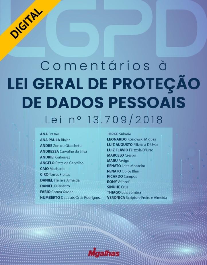 e-Book Comentários à Lei Geral de Proteção de Dados Pessoais