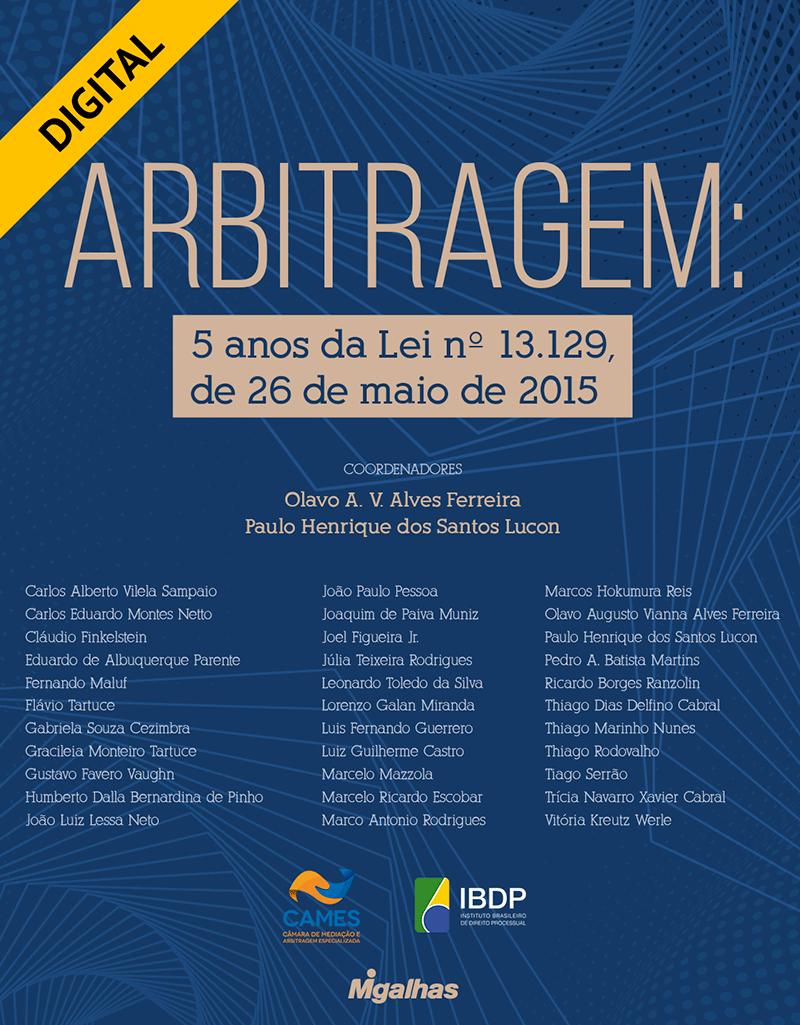e-book Arbitragem: 5 anos da Lei nº 13.129 de 26 de maio de 2015