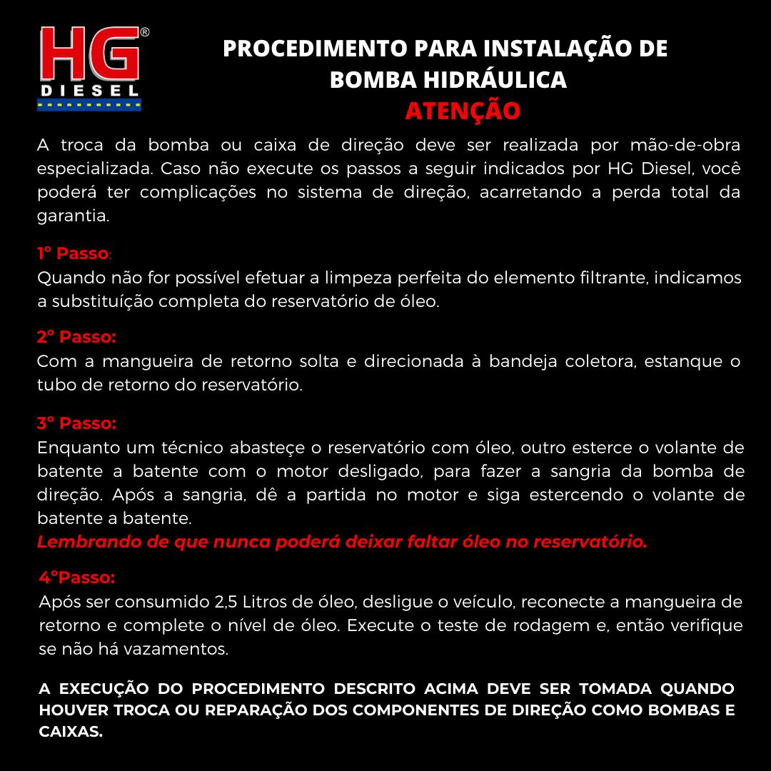 BOMBA DIREÇÃO HIDRÁULICA GM S-10 2.8 - 04 CIL MWM SPRINT 4.07 - 2002 A 2010 GM BLAZER 2.8 - 04 CIL MWM SPRINT 4.07 - 2002 A 2010 AGRALE MARRUÁ - 2004 A 2019 AGRALE VOLARE MICRO / VAN / CAMINHÃO / A6 /