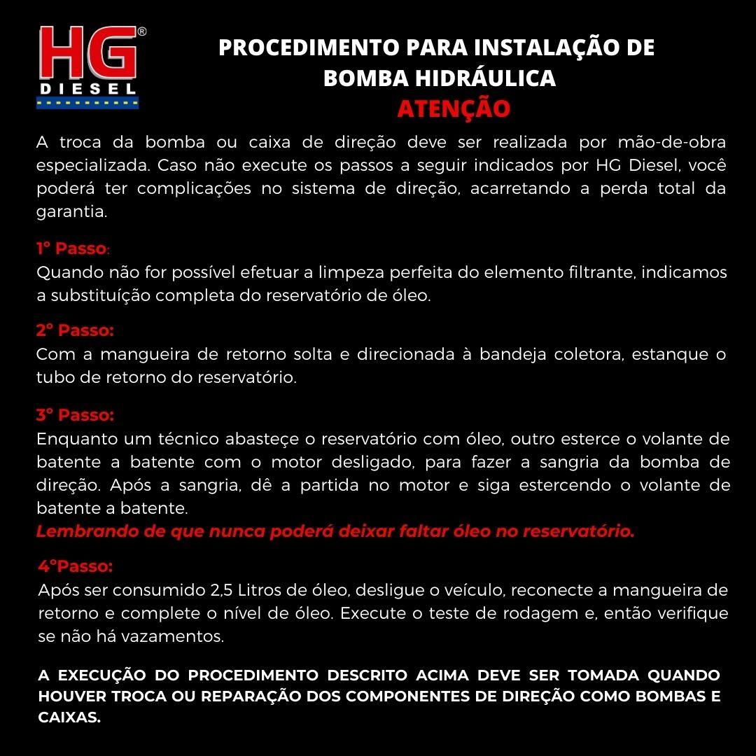 BOMBA DIREÇÃO HIDRÁULICA ZF A-10/D-10/D-20/C-10/D-10/BONANZA