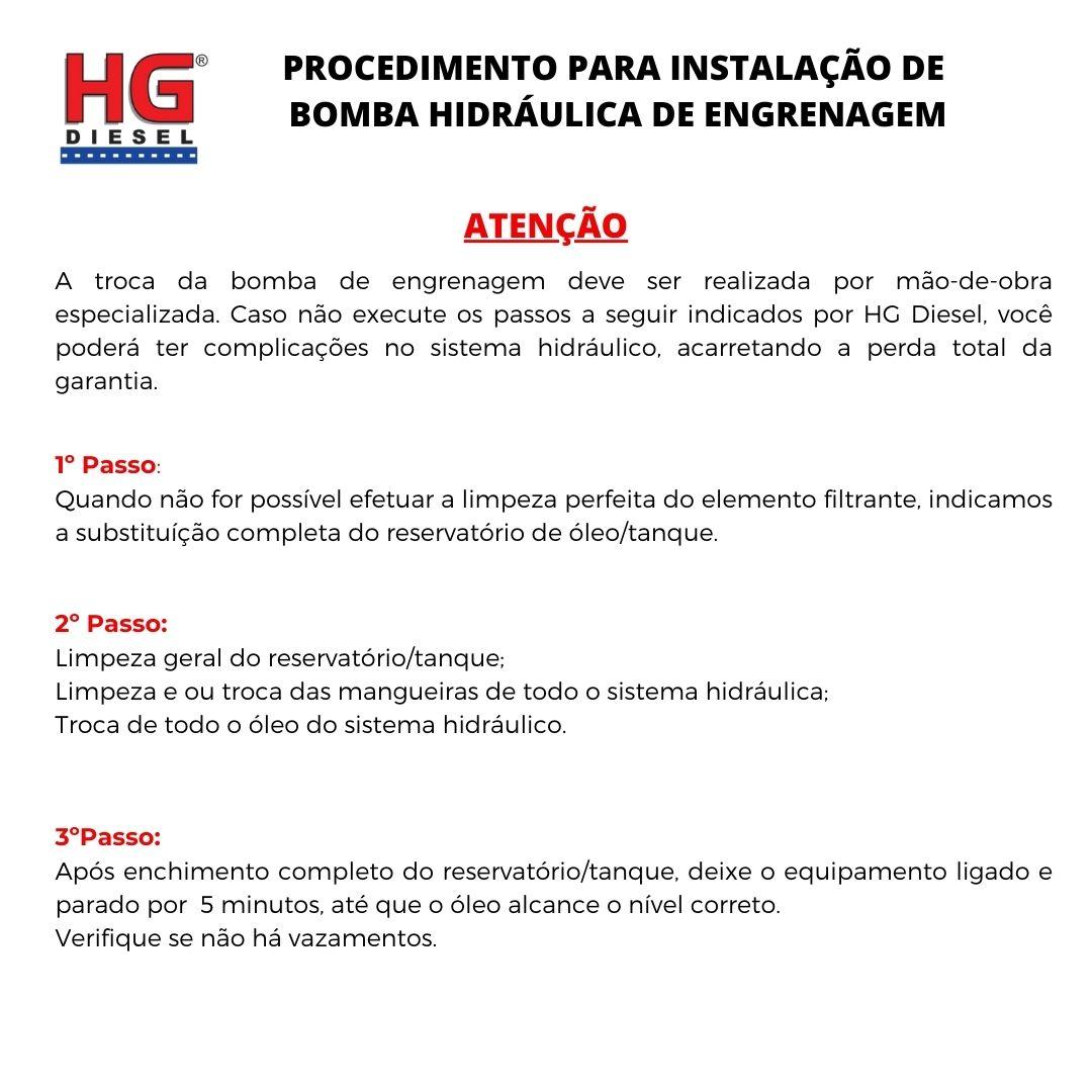 BOMBA HIDRÁULICA RETROESCAVADEIRA CASE 580L/M A PARTIR DE 1999-17 DENTES