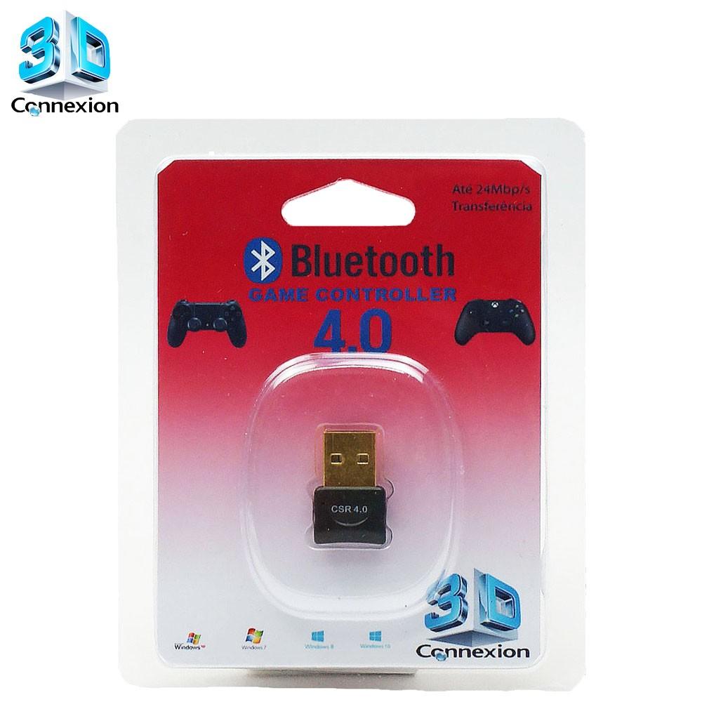 Adaptador Bluetooth 4.0 3DConnexion - Compatível com controle de videogame - Xbox One / Playstation 3 / Playstation 4 / Ipega
