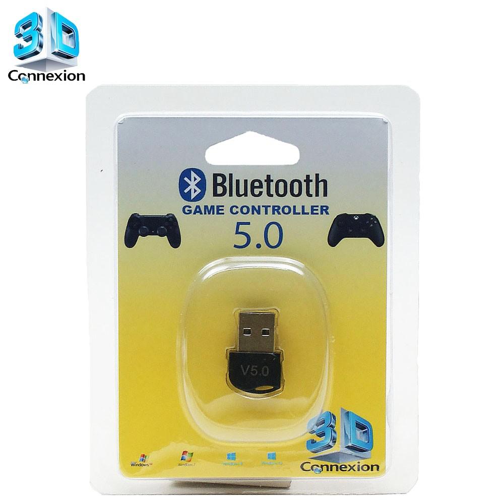 Adaptador Bluetooth 5.0 3DConnexion - Compatível com controle de videogame - Xbox One / Playstation 3 / Playstation 4 / Ipega