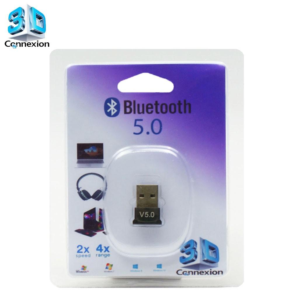 Adaptador Bluetooth 5.0 3DConnexion - Compatível com PC / Notebook / Laptop / Fones de ouvido / Celulares