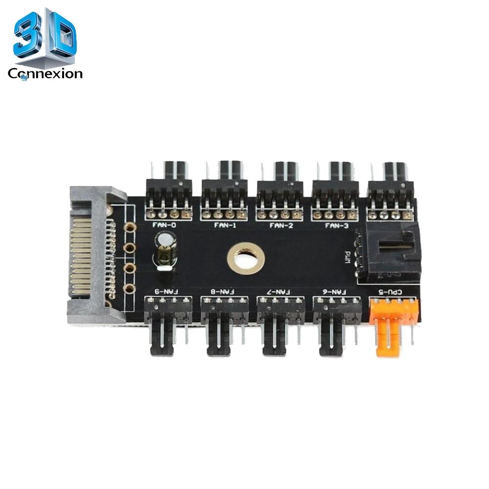 Adaptador Cooler 4 pinos 1x10 SATA - 3DConnexion