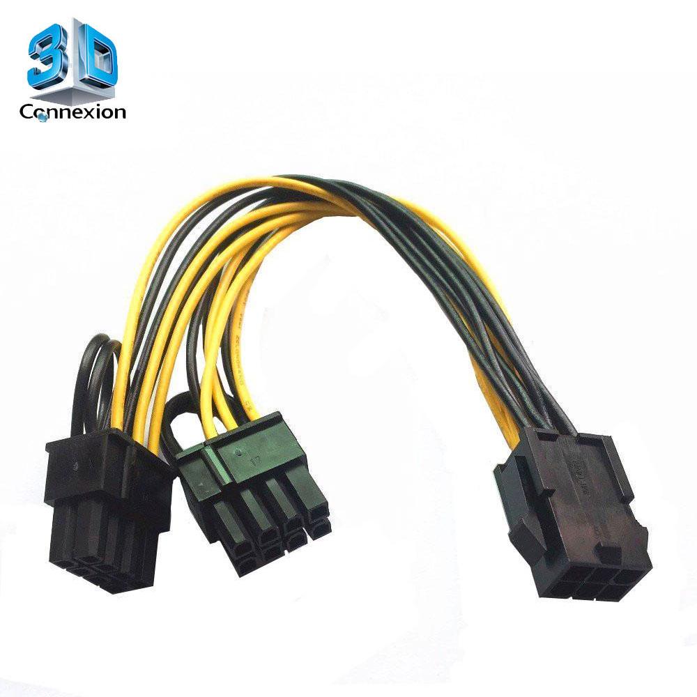 Adaptador de força Splitter 6 para 8 (6+2) pinos GPU - 3DConnexion (3DRJ1500)