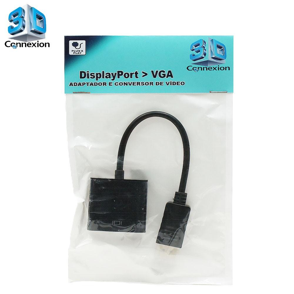 Adaptador Display port para VGA 3DConnexion - PC / Notebook / Laptop