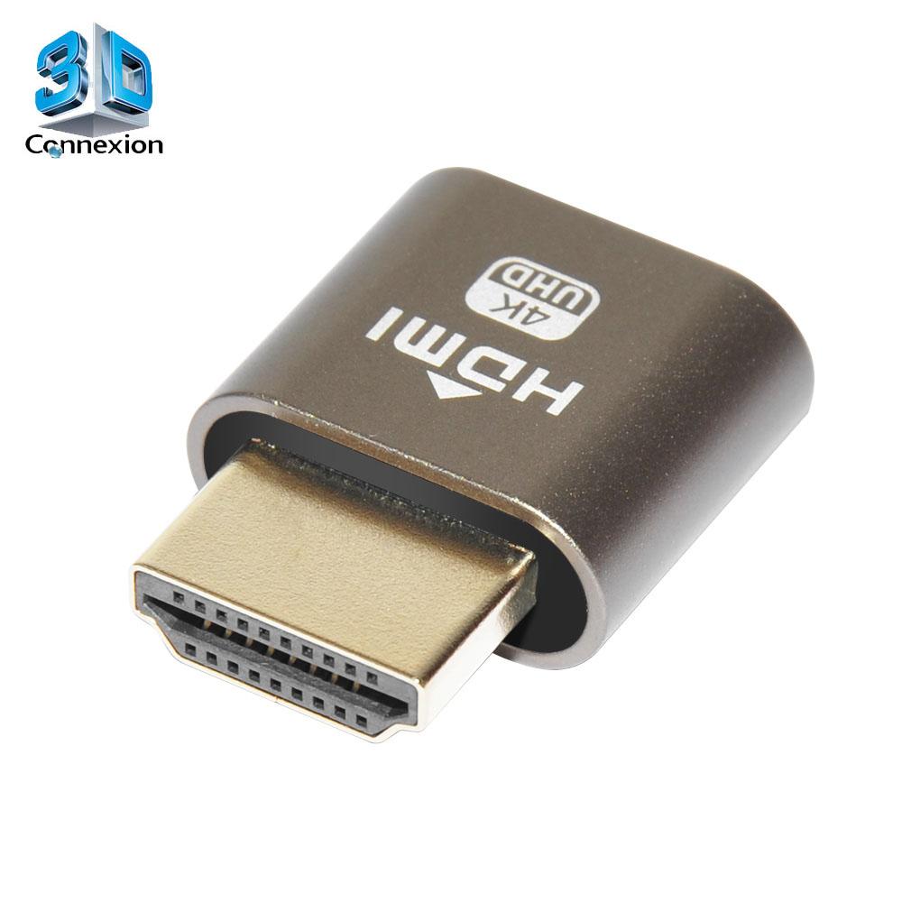 Adaptador HDMI Dummy - emulador virtual de porta HDMI ( 3DRJ1510 )