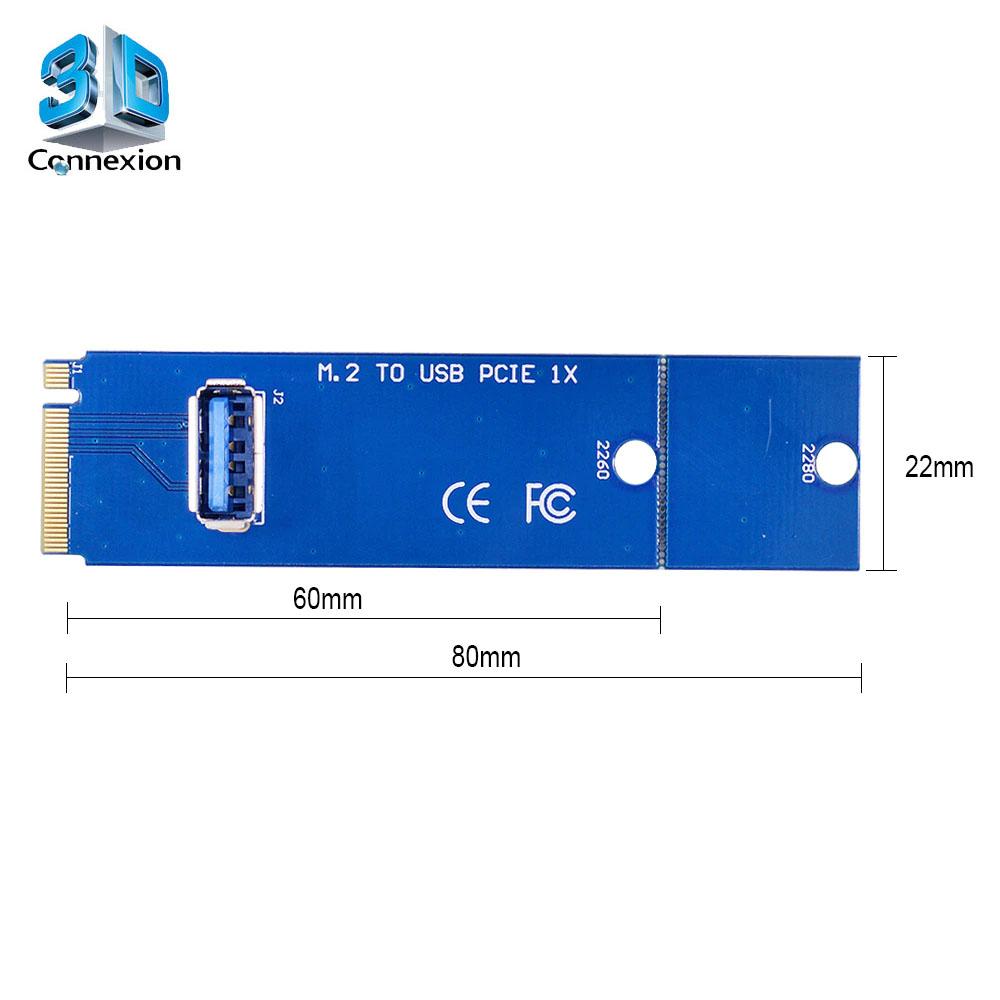 Adaptador M2 para PCI Express X1 - Riser ( 3DRJ1504 )