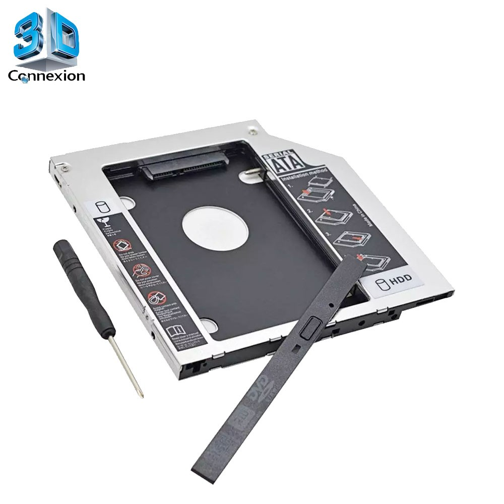 Adaptador para HD/SSD Caddy 9.5mm Notebook - 3DConnexion