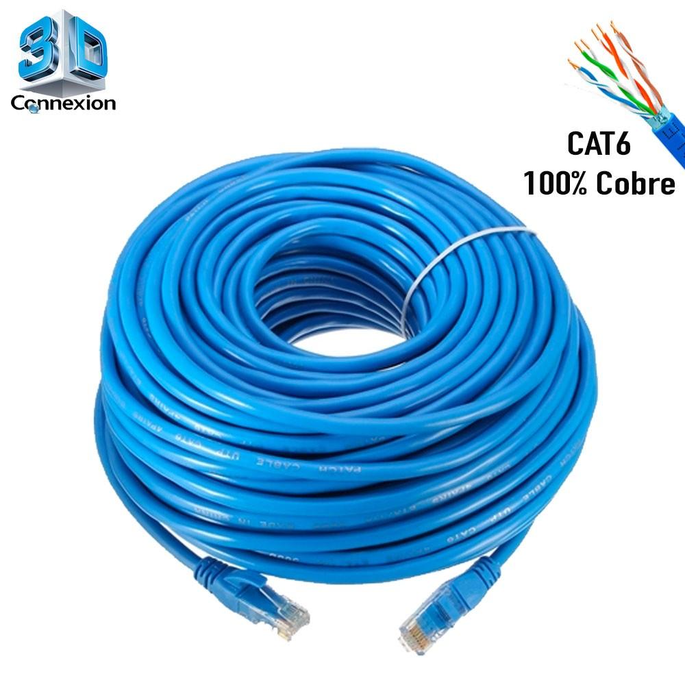 Cabo de Rede Cat6 25 metros pronto para uso até 10/100/1000 Azul 3DConnexion