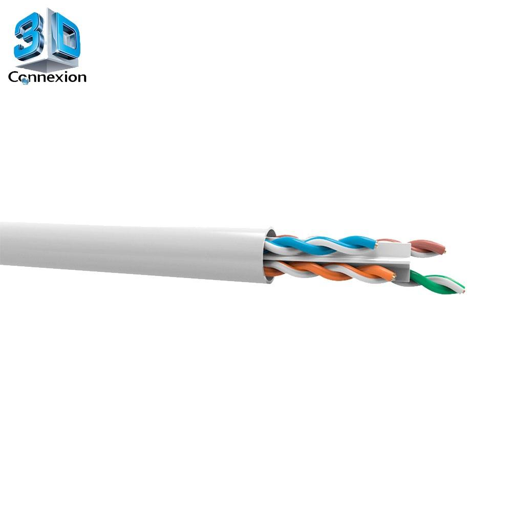 Cabo de rede CAT6 Branco por Metro - 3DConnexion