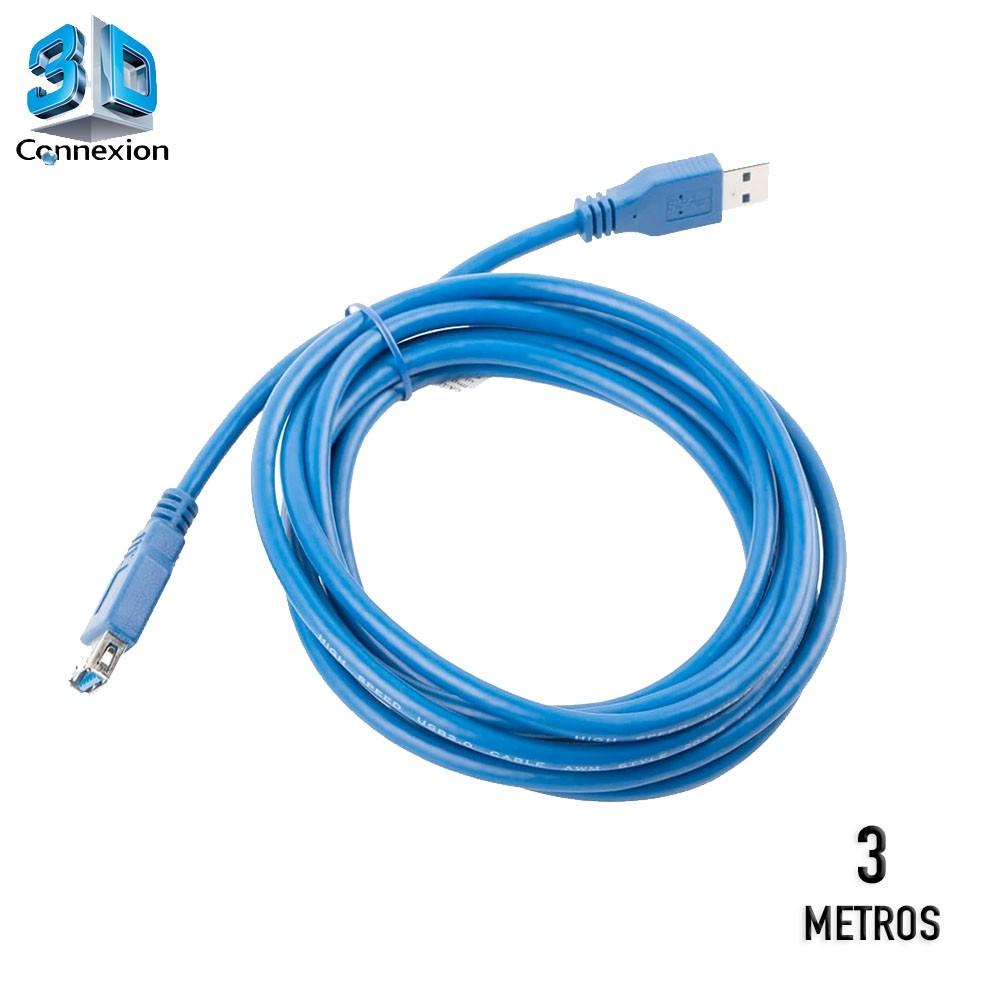 Cabo extensor USB 3.0 ( macho  x fêmea ) 3 metros - 3DConnexion