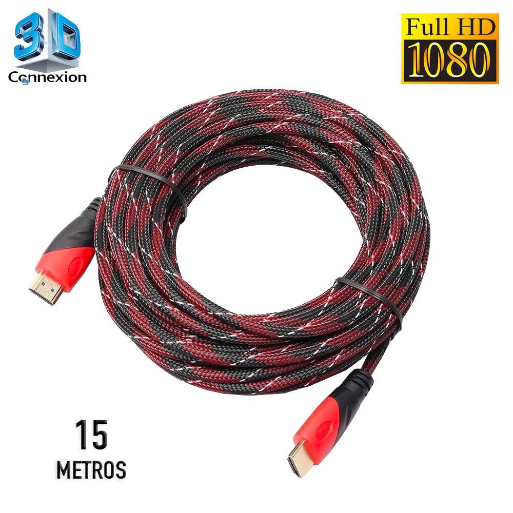 Cabo HDMI 1.4 3D Full HD Nylon 15 metros - 3DConnexion