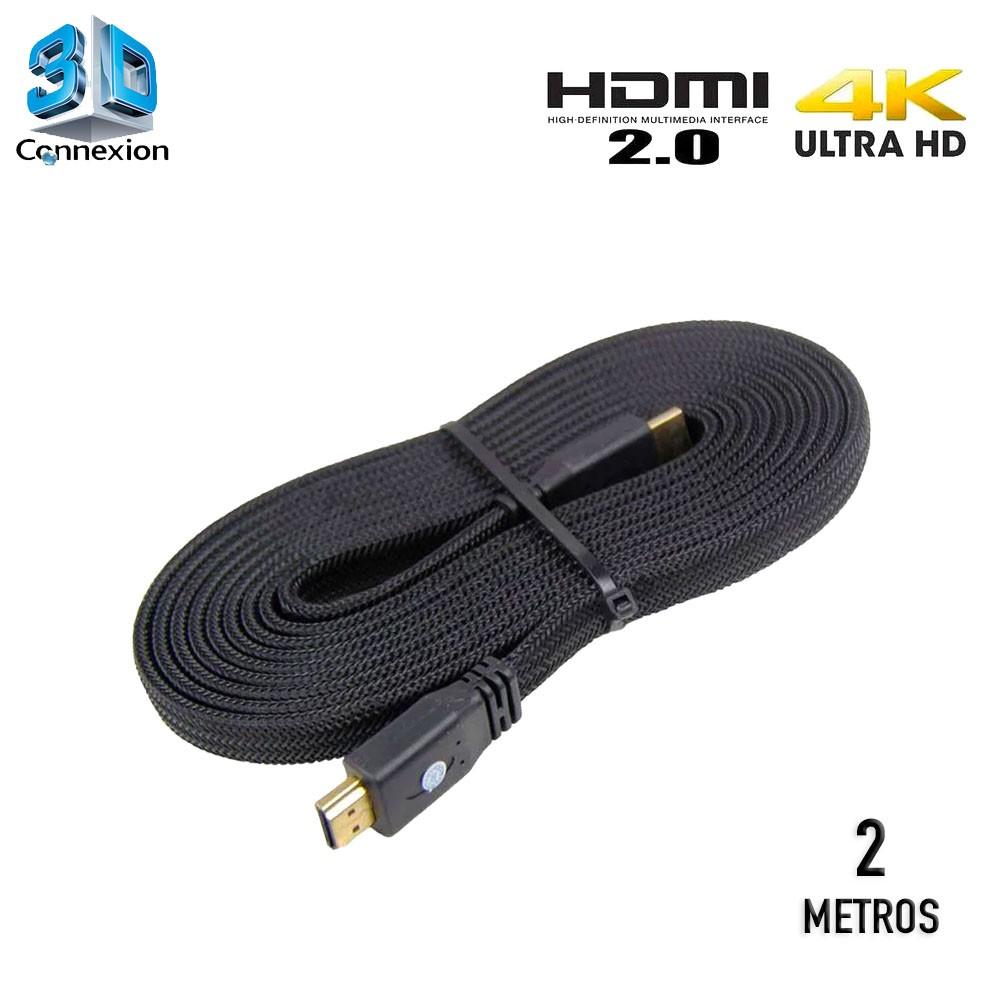 Cabo HDMI 2.0 4K Nylon 2 metros - 3DConnexion