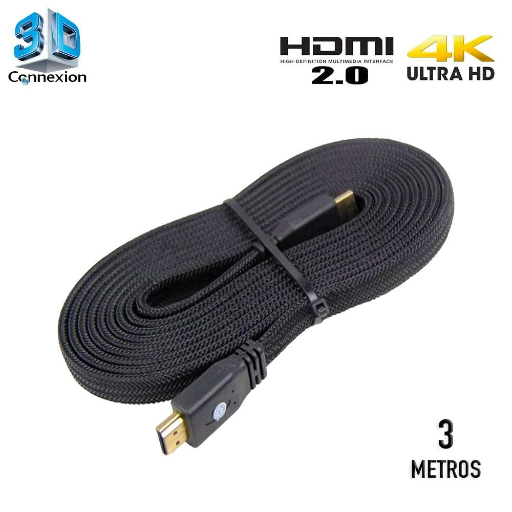 Cabo HDMI 2.0 4K Nylon 3 metros - 3DConnexion
