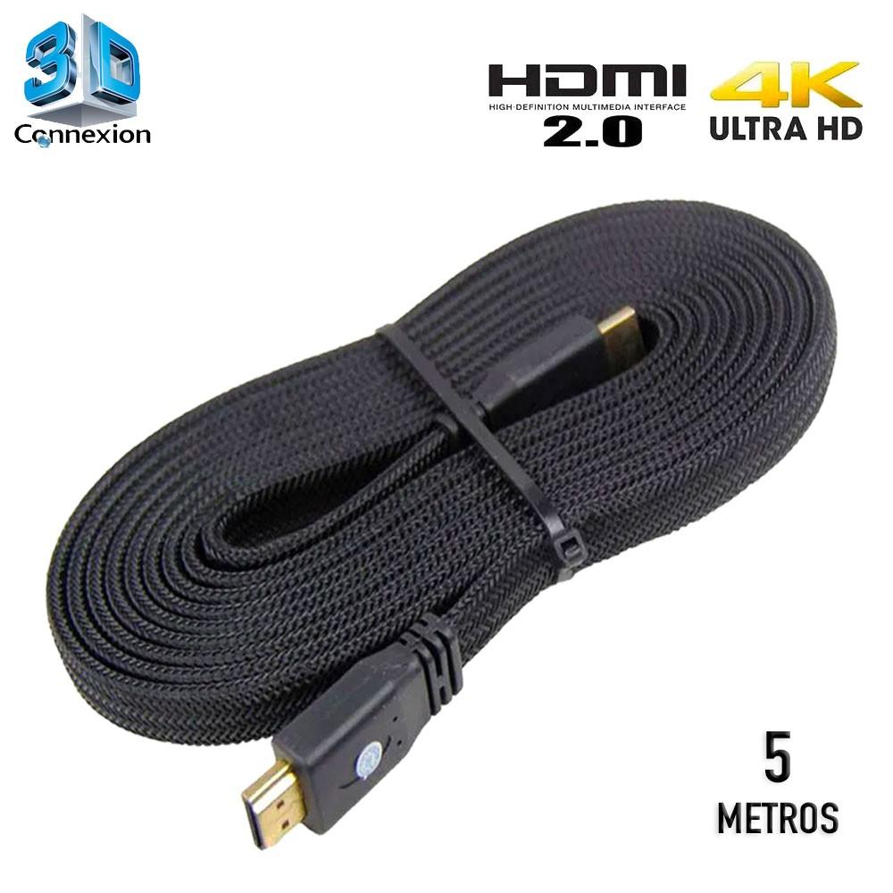 Cabo HDMI 2.0 4K Nylon 5 metros - 3DConnexion