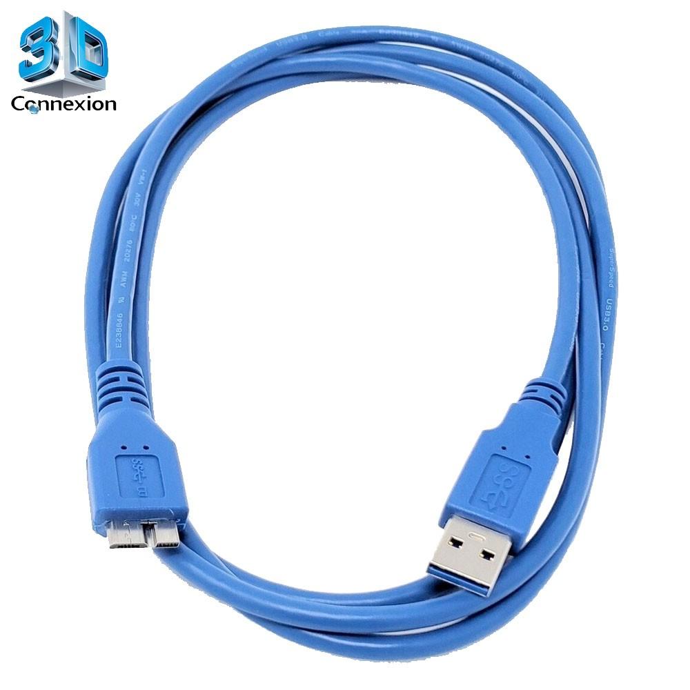 Cabo Micro USB 3.0 Am x Bm HD Externo 1 metro - 3DConnexion
