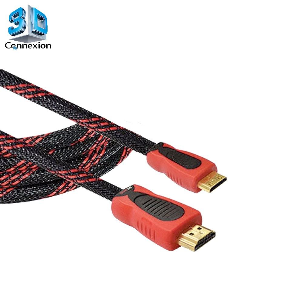 Cabo Mini HDMI x HDMI Nylon 1.8 metros - 3DConnexion