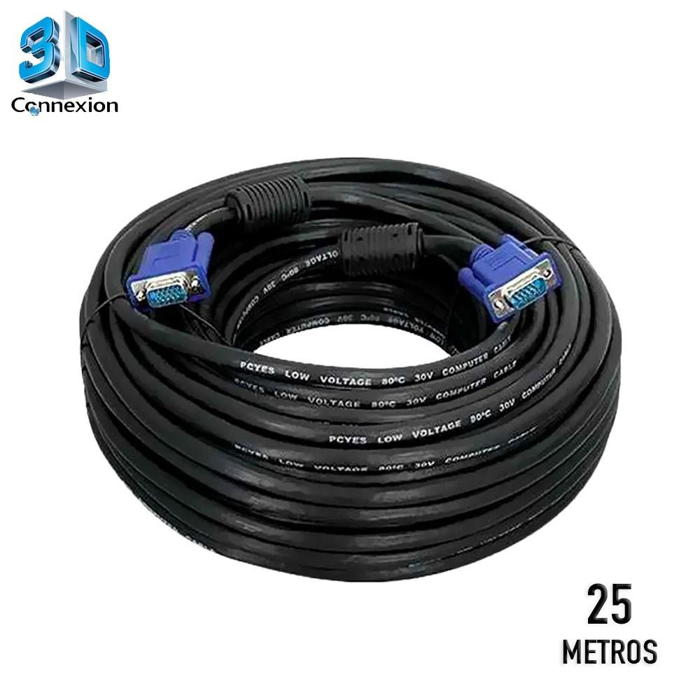 Cabo VGA 25 metros com conectores blindados e filtro 3DConnexion