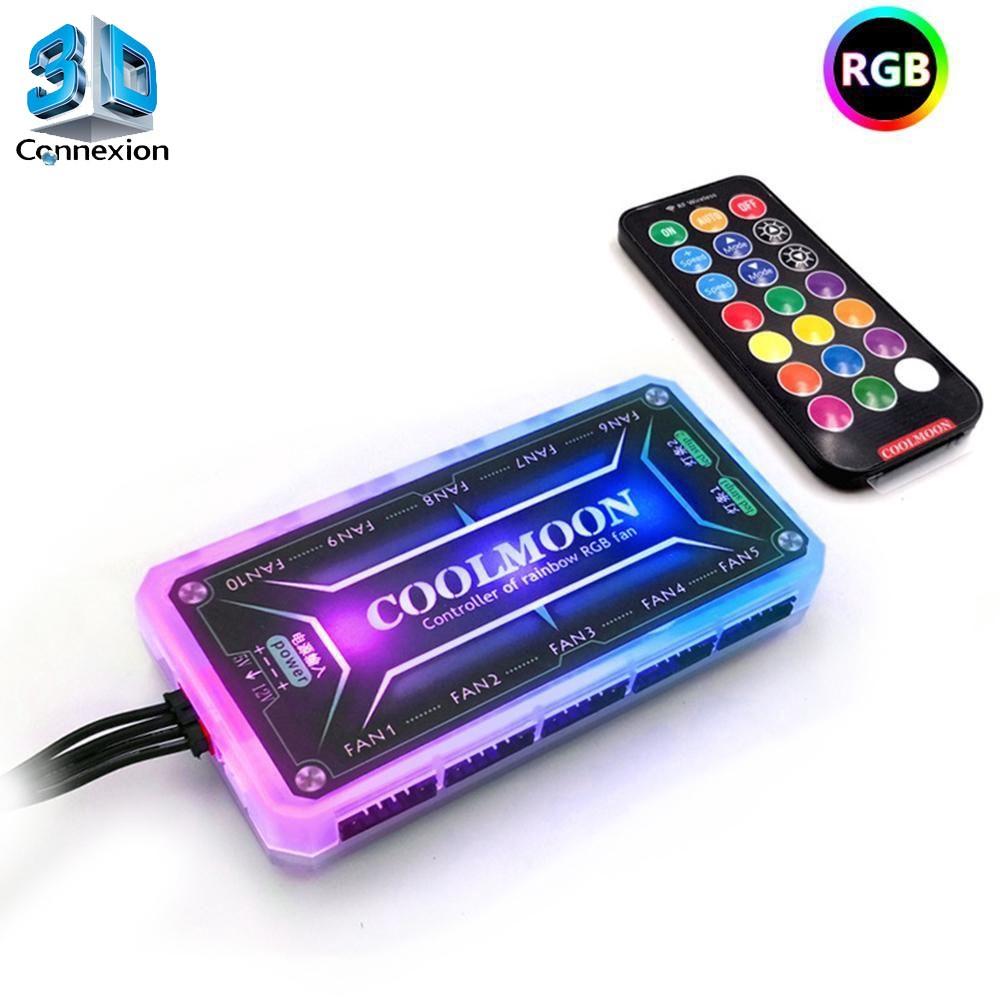 Controlador para Cooler RGB Coolmoon com controle remoto (3DRJ1356)