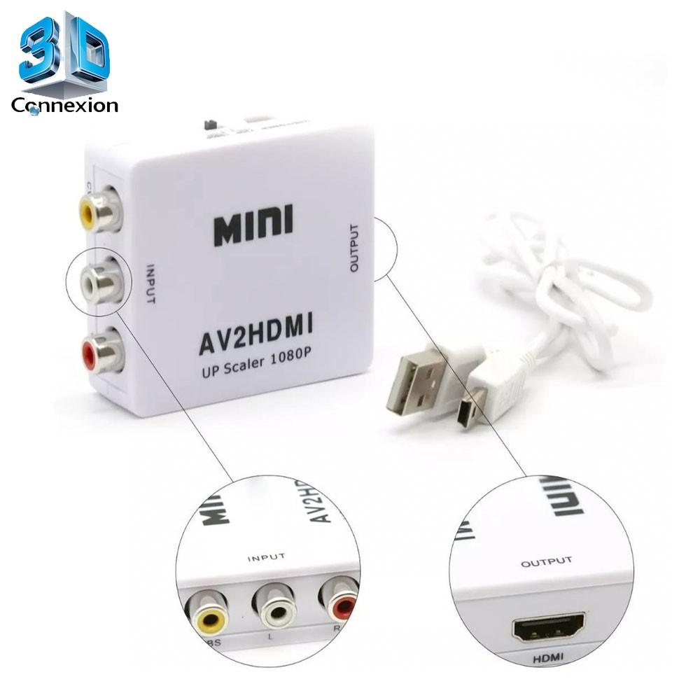 Conversor adaptador AV RCA para HDMI - 3DConnexion