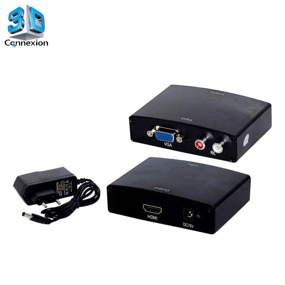 Conversor HDMI para VGA com fonte - 3DConnexion