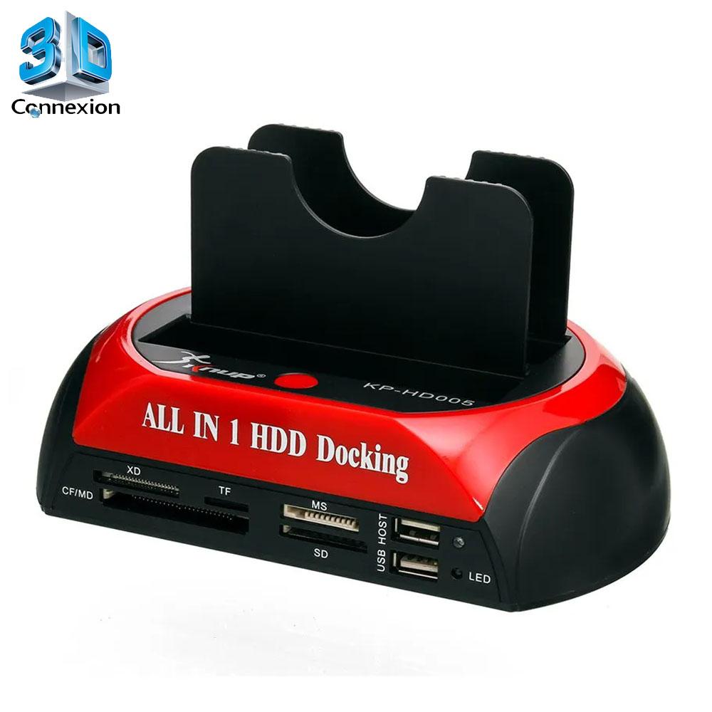 Dock para HD com Multi-Leitor de Cartão de Memória (3DRJ1429)