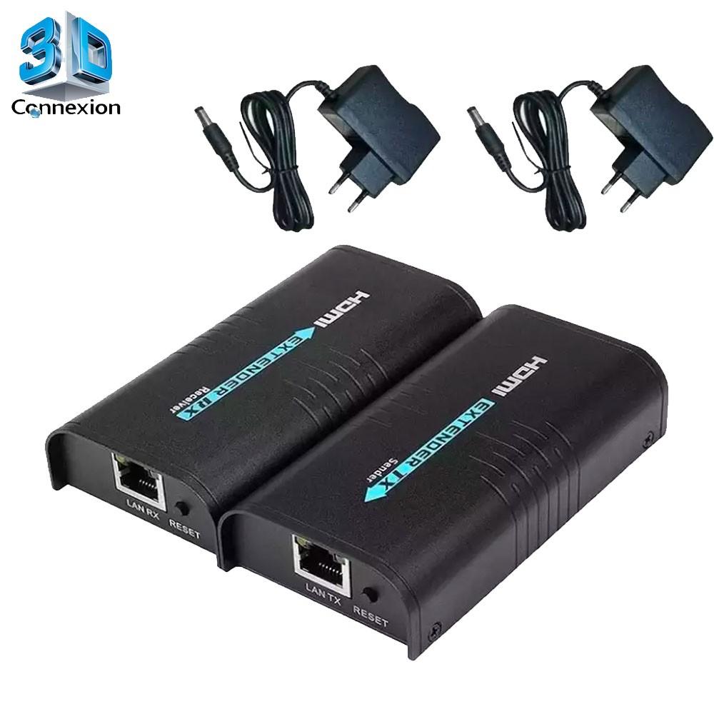Extensor HDMI 120m via cabo de rede CAT5e ou CAT6 - 3DConnexion