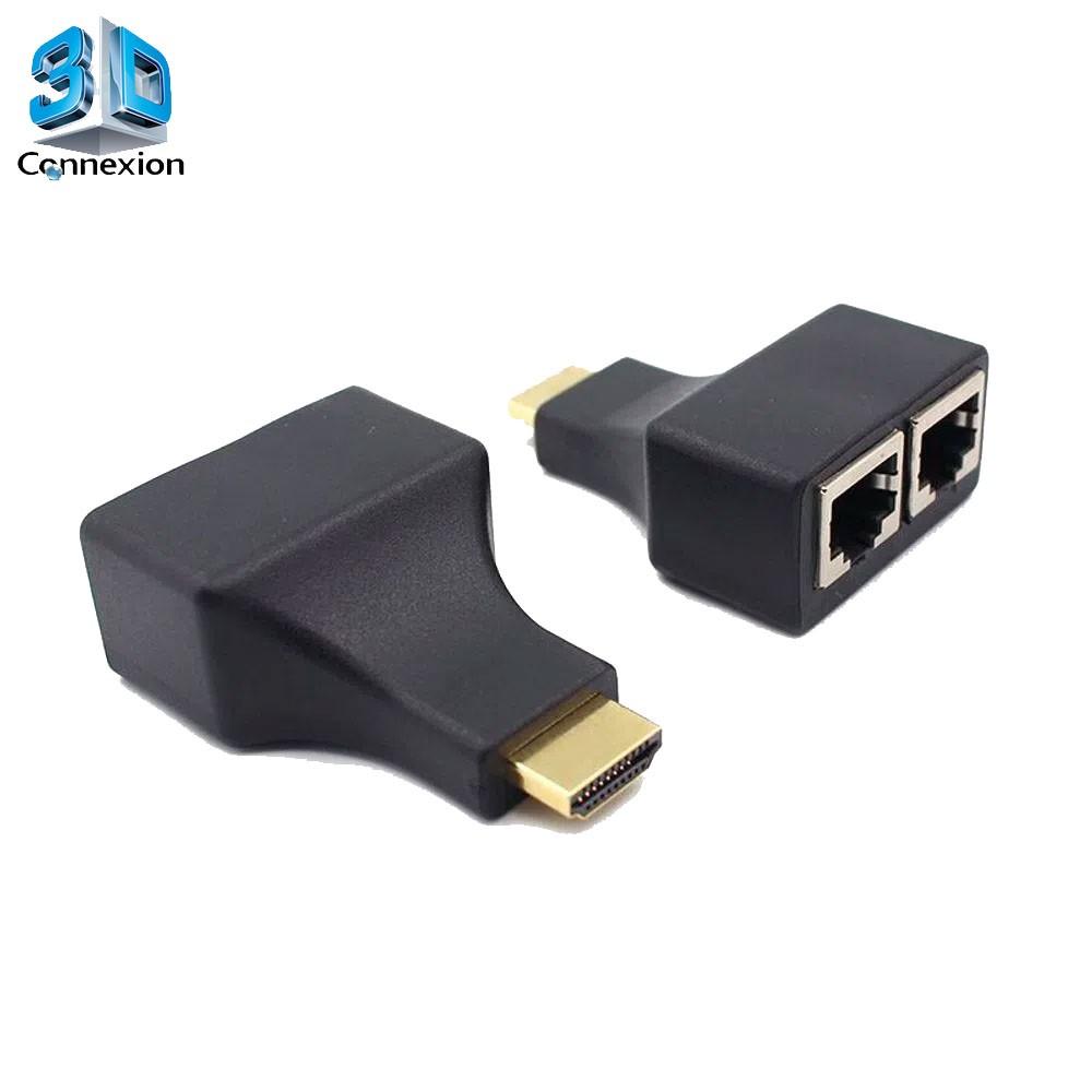 Extensor HDMI 30m via cabo de rede CAT5e ou CAT6 - 3DConnexion