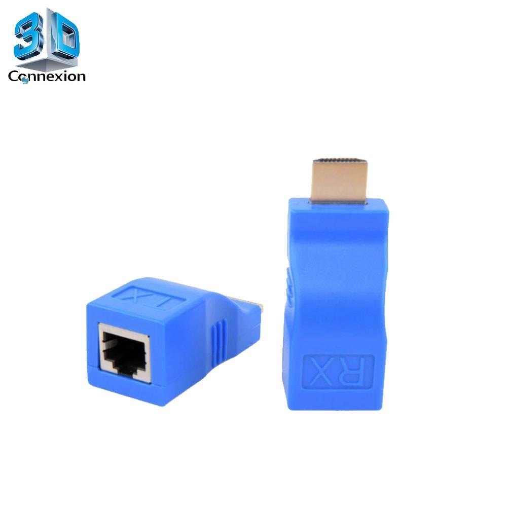 Extensor HDMI 30m via cabo de rede CAT6 ( 3DRJ2198 )